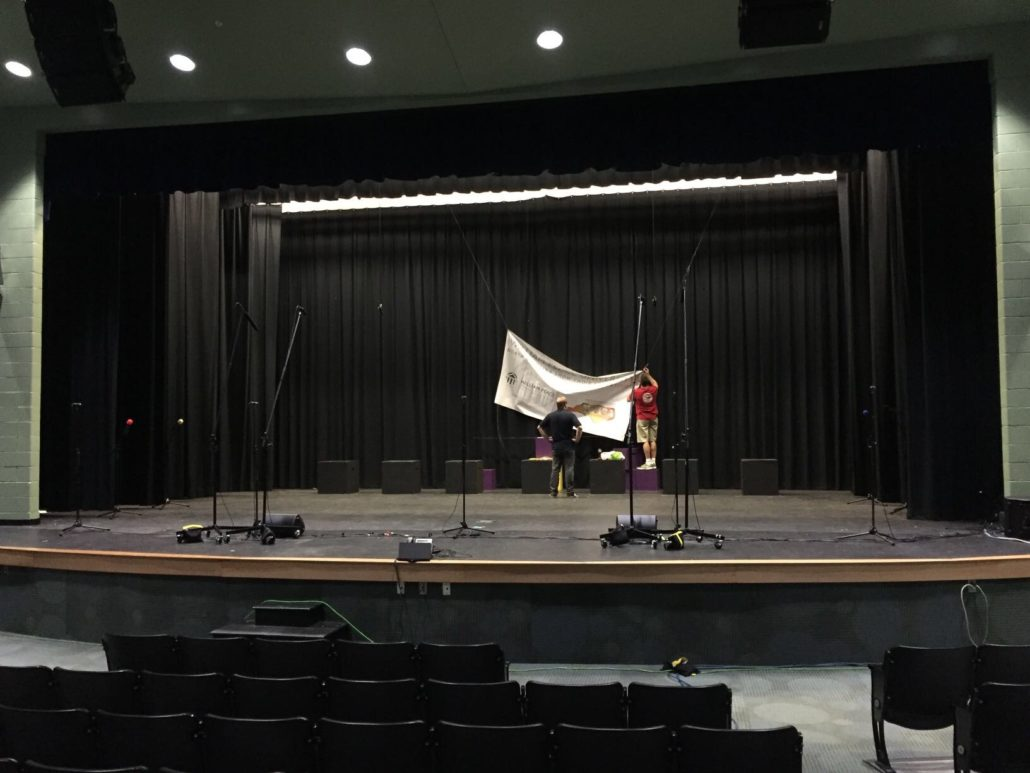 show choir mic shootout stage setup